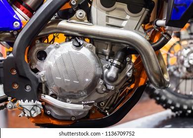 Detail of motorcycle close-up shot.