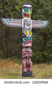 Detail of a Native American Totem Pole
