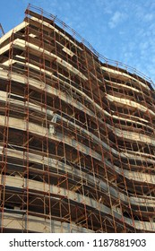 Detail from new hotel construction in Rafailovici, Montenegro