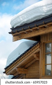 Detail of a nice ski resort chalet