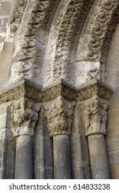 Detail north gate, cathedral of Tudela, Navarra, Spain
