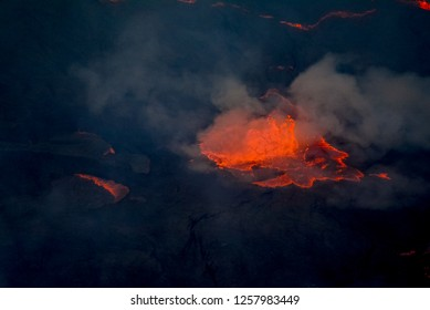 Detail Nyiragongo in Virunga National Park in Congo