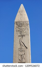 Detail of Obelisk at Sultanahmet Square  which was brought from Karnak Temple by the byzantine emperor Theodosius I in 390 AC.