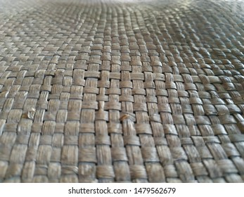 detail object - close up brown color woven ideal for background texture vintage