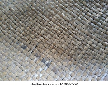 detail object - close up brown color woven ideal for background texture