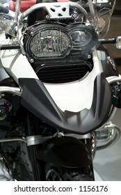 Detail of offroad motorcycle
