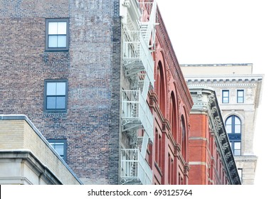 Detail oh houses in SoHo in New York City ,NYC
