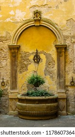 Detail of old and ancient garden in Siena