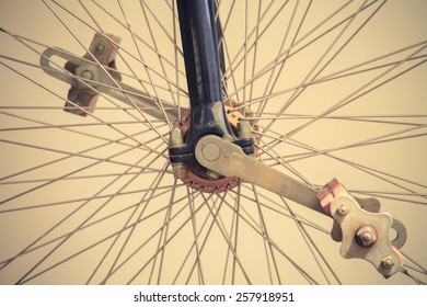 Detail of old bicycle