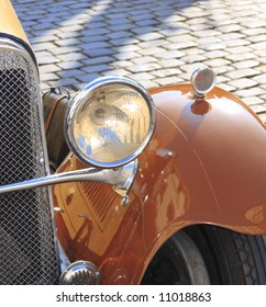 The detail of an old classic car, 1920's model.