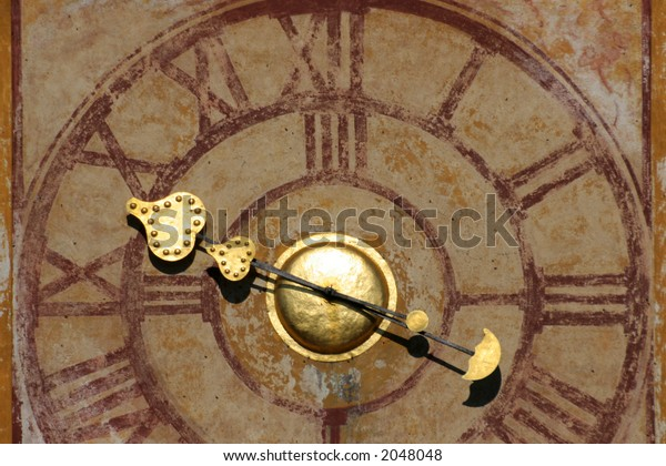Detail of old clock-face