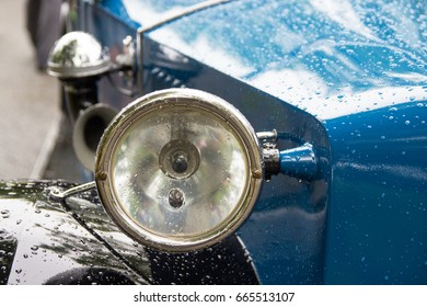 Detail of an old historic vehicle