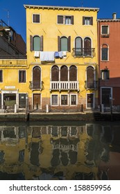 Detail of old house in Venice, Italy