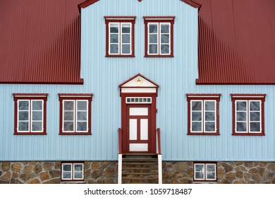Detail of an old Icelandic wooden house.