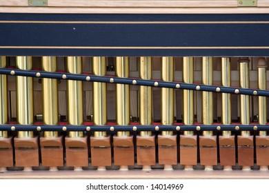 Detail of old organ instrument