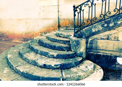 Detail of an old staircase