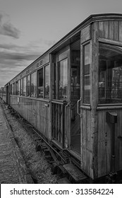 Detail of old train wagons of the Steam Train between Medemblik and Hoorn, The Netherlands