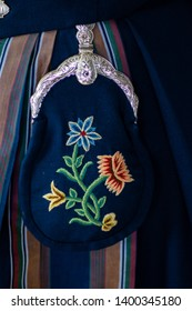"Detail on a Norwegian ""bunad"" (National costume)"