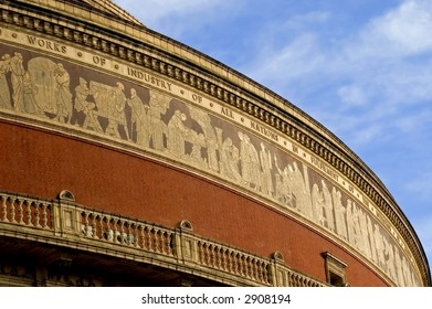 Detail on the roof of the Albert Hall, London, England.