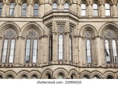 Detail on Town Hall, Manchester by Waterhouse (1877), England, UK