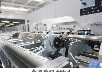 Detail of packaging machine for rolls