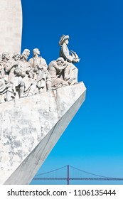 Detail of the Padrao dos Descobrimentos or Monument to the Discoveries in Belem, Lisbon, Portugal