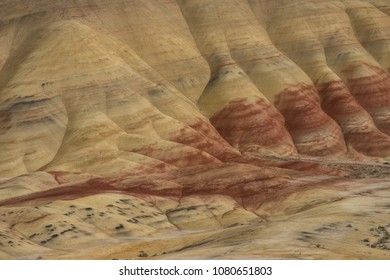 Detail of the Painted Hills region of the state of  Oregon, USA.