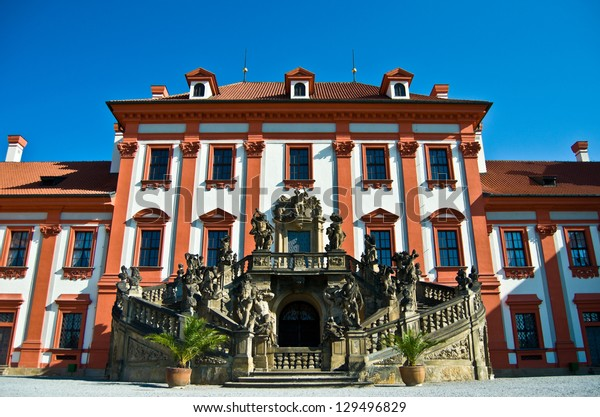 detail of the Palace Troja in Prague