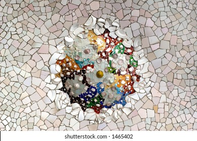 detail in park guell, Barcelona