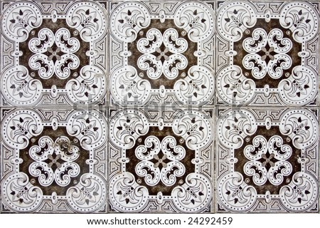 Detail Pattern Portuguese Old Ceramic Tiles Stock Photo Edit Now