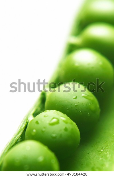 Detail of peas in pod.