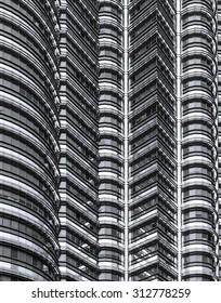 Detail of Petronas towers, Kuala Lumpur, Malaysia