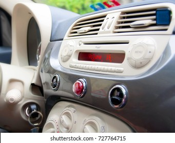 Detail photo of a dashboard: interior design