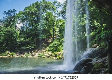 Detail photograph of Chifon waterfall in Chiapas Mexico