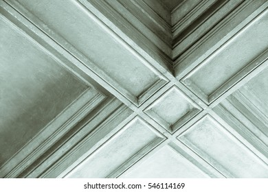 Detail of portico ceiling