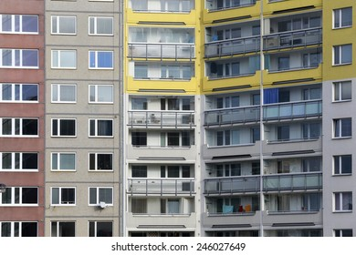 detail of prefabricated house in Prague Czech republic