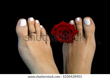 Pretty black female feet