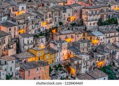 Detail of Ragusa Ibla in Sicily at dawn