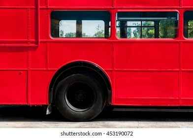 Detail of red Bus