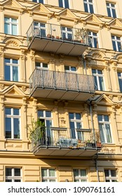 Detail of a renovated old residential construction seen at the Prenzlauer Berg district in Berlin, Germany