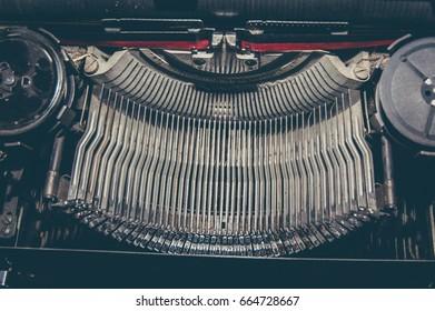 Detail Of Retro Typewriter