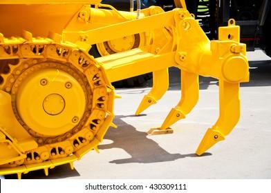 Detail ripper bulldozer caterpillar