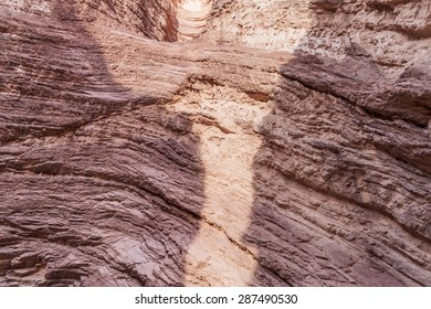 Detail of a rock formation called Amfitheater in Quebrada de Cafayate valley, Argentina