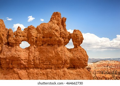 Detail of the rock formations at Bryce Canyon, Utah, USA