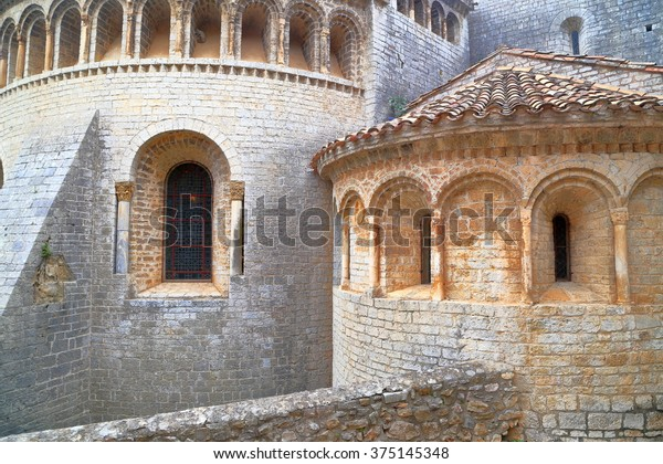 Detail Romanesque Architecture Old Monastery