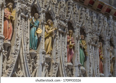 Detail of the rood screen in Ripon cathedral.