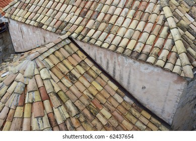 Detail of roof seen from the town wall - Dubrovnik, Croatia.