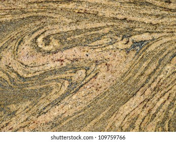 Detail of the rough migmatite rock texture