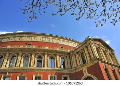 Detail of Royal Albert hall London, Great Britain