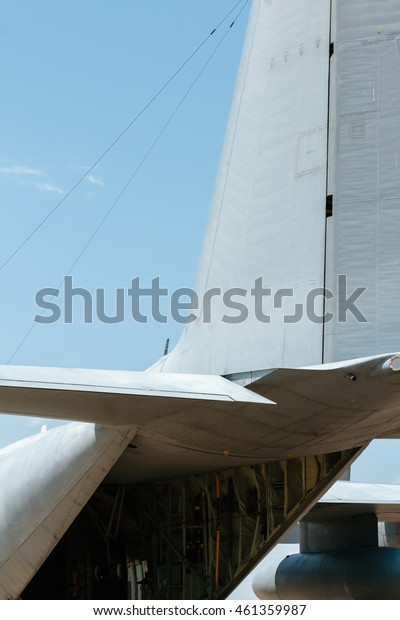 Detail of Rudder of a military plane